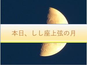 本日しし座上弦の月